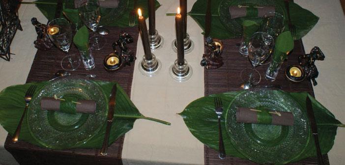 Astuces pour un dressage de table exotique for L art de table